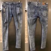 Рванные джинсовые скинни! Размер 32 / 42 евро! (~ 48/50)! Тренд!