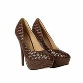 Туфли Platino фактурные на каблуке
