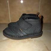 Натуральні нубукові ботинки, устілка 15,5 см