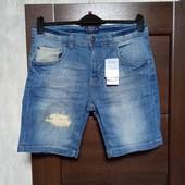 Фирменные коттоновые джинсовые шорты р.48 евро