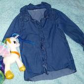 Обалденная рубашечка в рюшиках от River Island, на девочку 3-4 годика