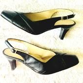 Чёрные классические туфли с открытой пяткой босоножки с закрытым носком италия