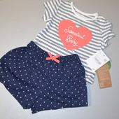 Костюм для дівчинки: футболка+шорти 74