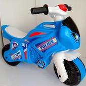 Большой!!!!!Мотоцикл беговел велобег технок со звуками и светом 5781