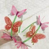 Ободок с бабочками, обруч