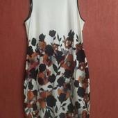 Стрейчевое летнее платье, цветочный принт