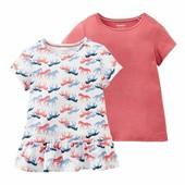 Набор із 2шт футболочок на дівчинку, розмір 98/104,бренд lupilu Геpманія, в упаковці