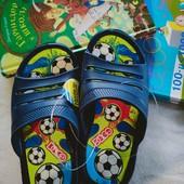 Дитячі шльопанці шлепки сині, футбол 30,31✓20 и 21 см на вибір