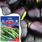 Бобы сахарные суперранние Экстра Грано Виолетто. Профупаковка. Лот 1 пакет.