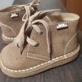 Суперские ботинки, полностью натуральная кожа, стелька 13,5 см