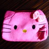 Маленькая плюшевая сумочка для девочки Hello Kitty, розовая