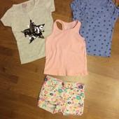 Шорты и футболки на 4—5 лет