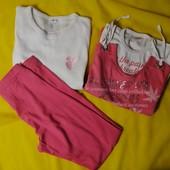 ЛоВиЛоТы! Две футболки и лосины для девочки 13-14 лет