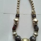 Потрясающе красивое ожерелье на шею с натуральными камнями+бонус