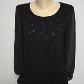 Люкс симпатичная комбинированная кофточка/ блуза р.48 оч.хорошего сост