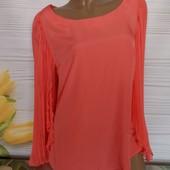 Шикарная блуза секонд люкс с биркой размер 46/48