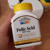 Фолиевая кислота, 800 мкг, 180 таблеток, США