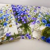Полевые цветы! Набор красивых полотенец из хлопка!