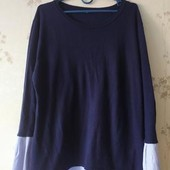 Стильный свитер обманка,имитация двойки