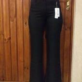 Новые классические брюки с вышивкой (р. 48 - смотрите замеры)).