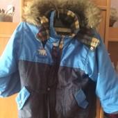 Куртка, внутри флис+подстежка из шерпы, холодная весна, р. 2-3 года 92-98 см, Alaska. сост. хорошее