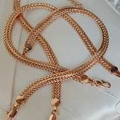 18.5 см! шикарный широкий браслет, оригинальное плетение, ширина 6.5 мм, позолота 585 пробы