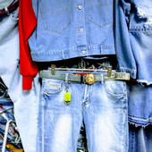 Новые турецкие стрейчевые джинсовые шорты, р.32, на бедра 102-106 см, поб 50 см. Высокая талия