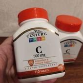поддерживаем иммунитет- Витамин C, 500 мг, 110 штук , Америка