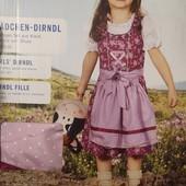 ГГ167.Костюм народный, баварский платье 98 lupilu, германия