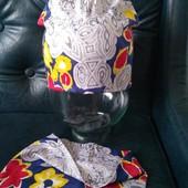 Лёгкий трикотажных комплект для девочки шапка и хомут