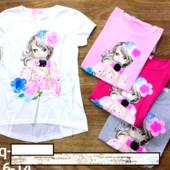 Гламурные футболки для девочек seagull 6-14 р