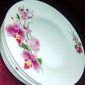 Новинка! Тарелки-Орхидея,лот-6 шт