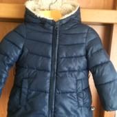 Куртка, холодная весна, внутри шерпа, размер 2 года 90 см, UC of Benetton. состояние отличное