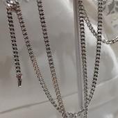 новинка! очень красивая и нежная цепочка, плетение панцирное 60 см, родий