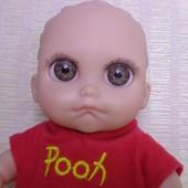 Кукла очаровательный пупс 22 см.Глазастик ! Весь виниловый.