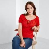 Яркая нежная блузка с вышивкой от Tchibo германия размер 38 евро=44