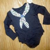 Lupilu футболка-бодик pure collection р.74/80