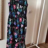Плаття в пол з великим вирізом