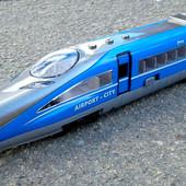 Детская игрушка Экспресс-поезд 28см длинна Big Motors (G1718)свет.звук.откр.двери