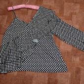 Next uk20, асимметричная блузка с воланами