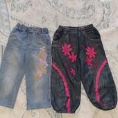 Штаны джинсы вильветовые на 2-4года. Одним лотом 4шт, не секонд