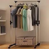 Универсальная вешалка для одежды Double Pole