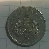 Монета Великобритании 5 пенсов 2003