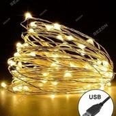 """Светодиодная гирлянда """"Краплинки"""" от USB.30mini led."""
