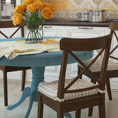 Чехол на стулья:тепло и мягко/с карманом для подушки,на завязках ..2шт