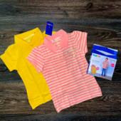 Комплект из 2-х футболок поло на девочку от lupilu размер 98/104.