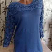 Новый, эксклюзивный ангоровый свитерок с дорогим ажуром!