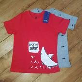 Набор футболок на мальчика Lupilu 86-92 2 шт.
