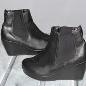 женские ботинки, полусапоги, отличное качество эко-кожи