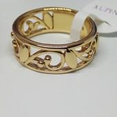 Красивая новинка ,кольцо с резным узором, позолота 18К, размер 16.5-17